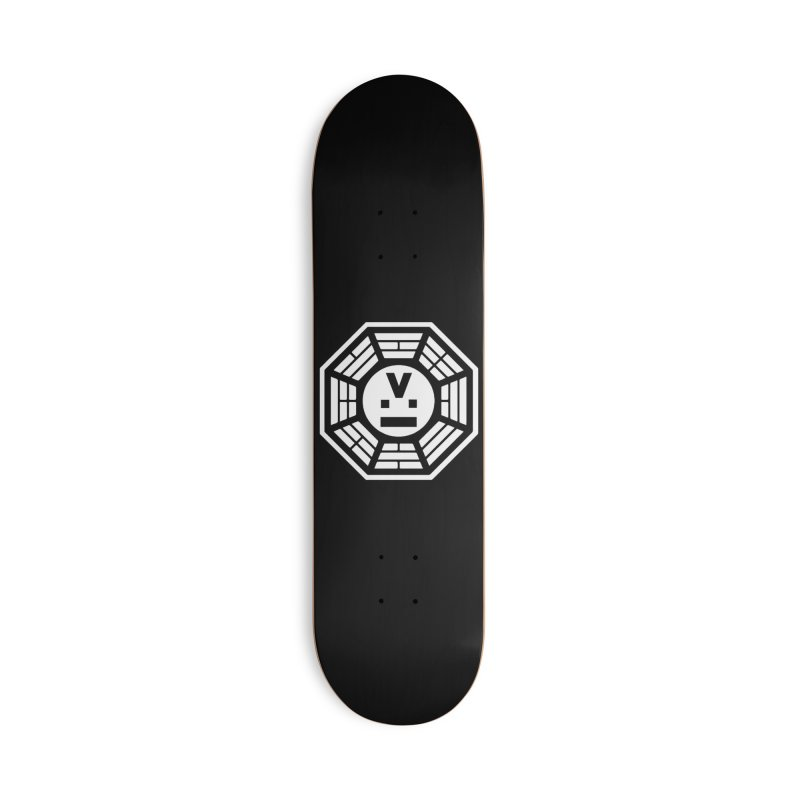 """Dharmalars Logo """"White"""" Accessories Skateboard by CASINOSKUNK PRODUCTIONS"""