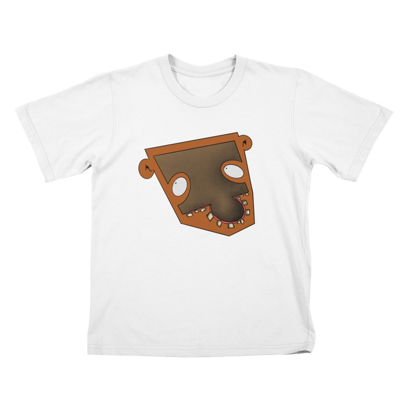 Puzzle Face Kids T-Shirt by RE Casper Studio