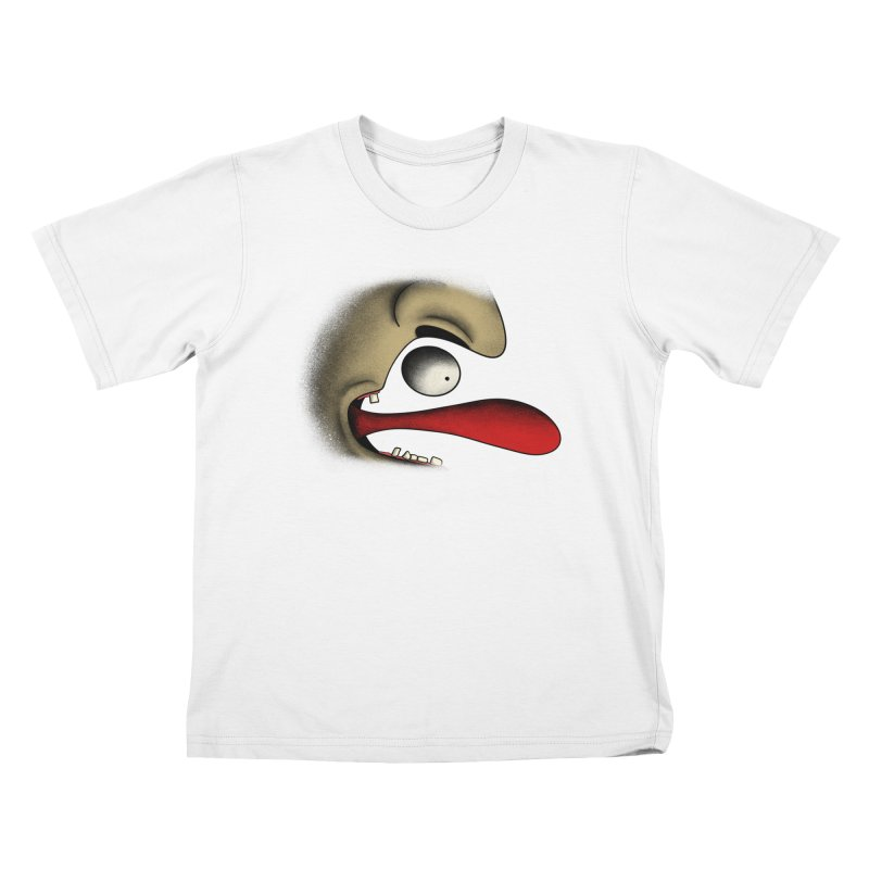 Tongue Face Kids T-Shirt by RE Casper Studio