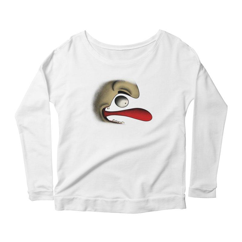 Tongue Face Women's Longsleeve T-Shirt by RE Casper Studio