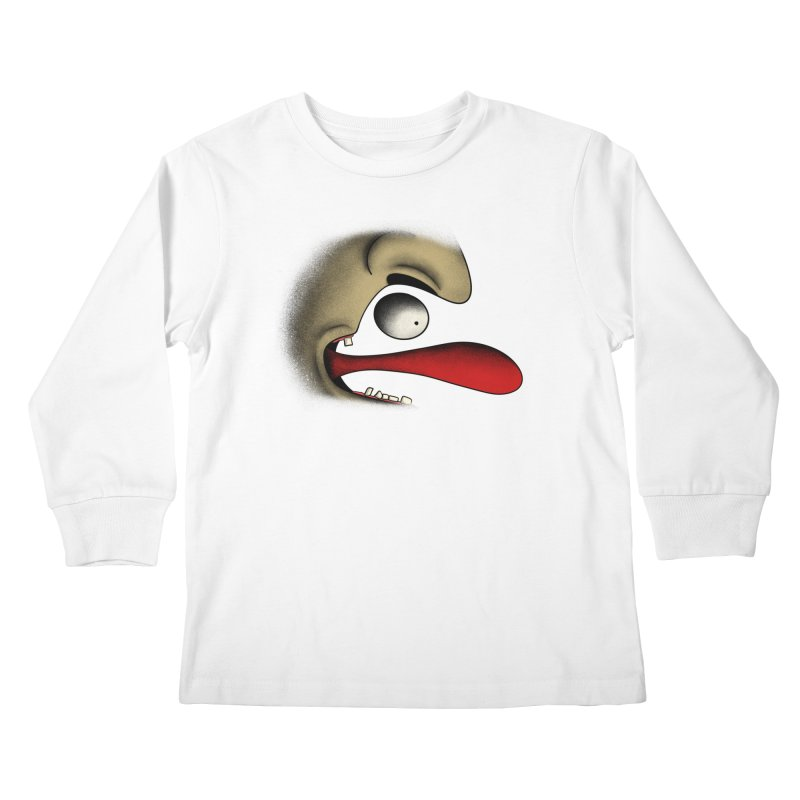 Tongue Face Kids Longsleeve T-Shirt by RE Casper Studio