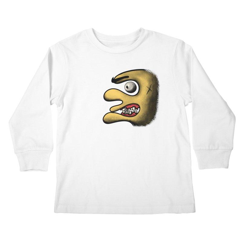Angry Face Kids Longsleeve T-Shirt by RE Casper Studio