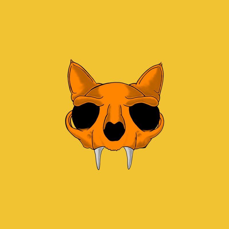 Cat Skull Men's T-Shirt by RE Casper Studio
