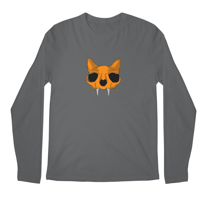 Cat Skull Men's Longsleeve T-Shirt by RE Casper Studio