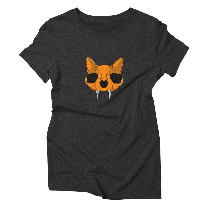 Cat Skull Women's T-Shirt by RE Casper Studio