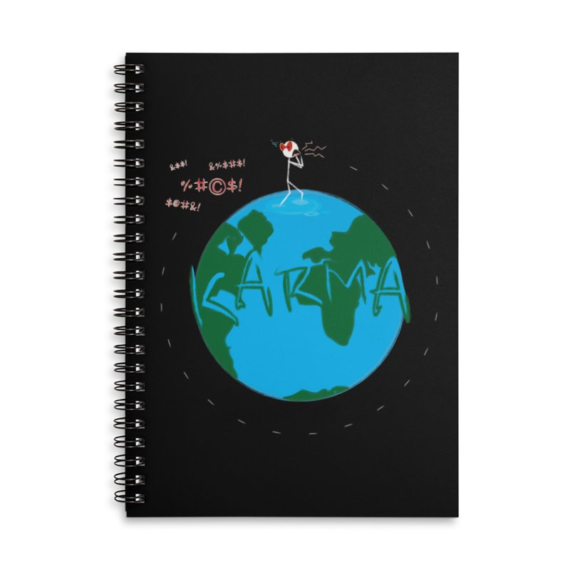 Karma Planet - Hate Accessories Lined Spiral Notebook by RE Casper Studio