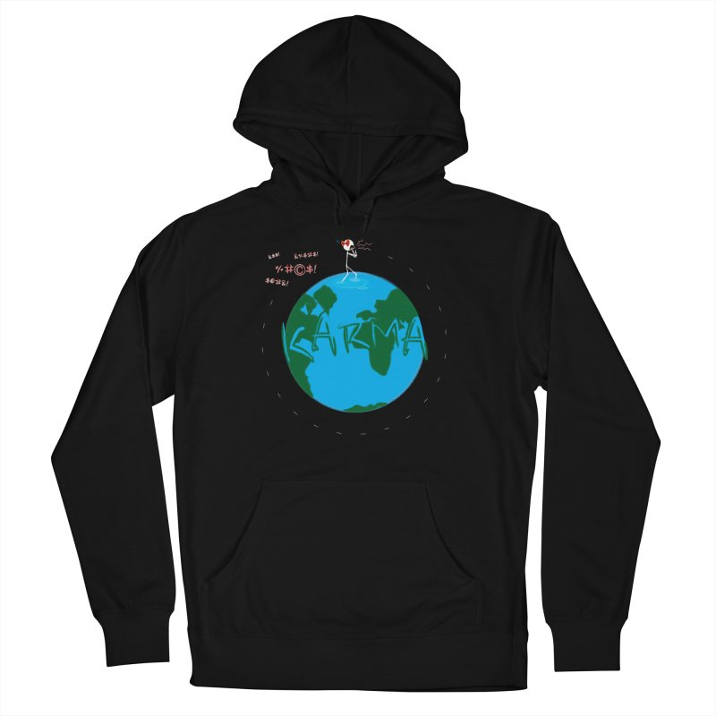 Karma Planet - Hate Men's French Terry Pullover Hoody by RE Casper Studio