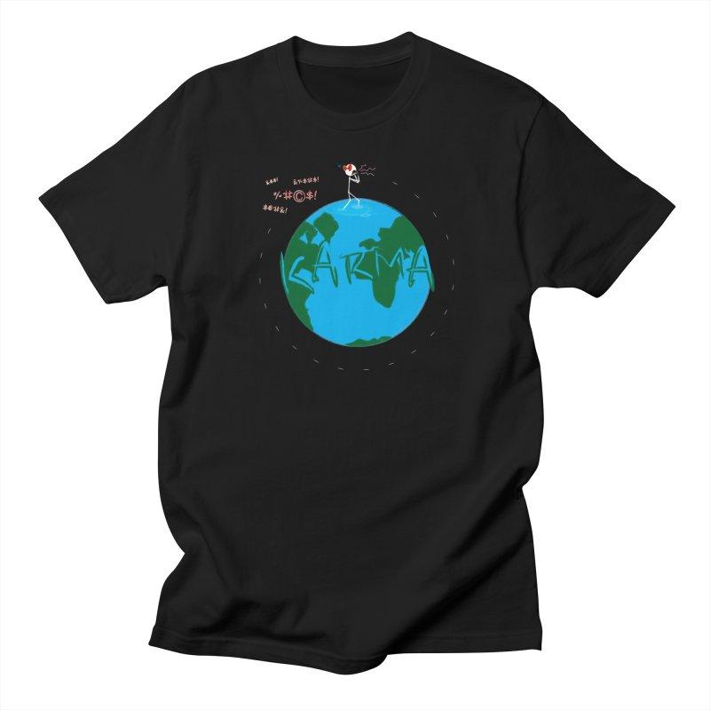 Karma Planet - Hate Men's Regular T-Shirt by RE Casper Studio