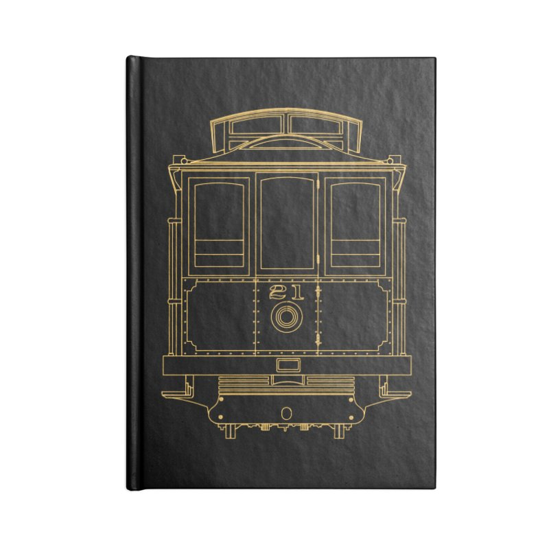 Cable Car #21 Accessories Lined Journal Notebook by RE Casper Studio