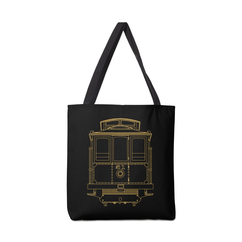 Cable Car #21 Accessories Tote Bag Bag by RE Casper Studio