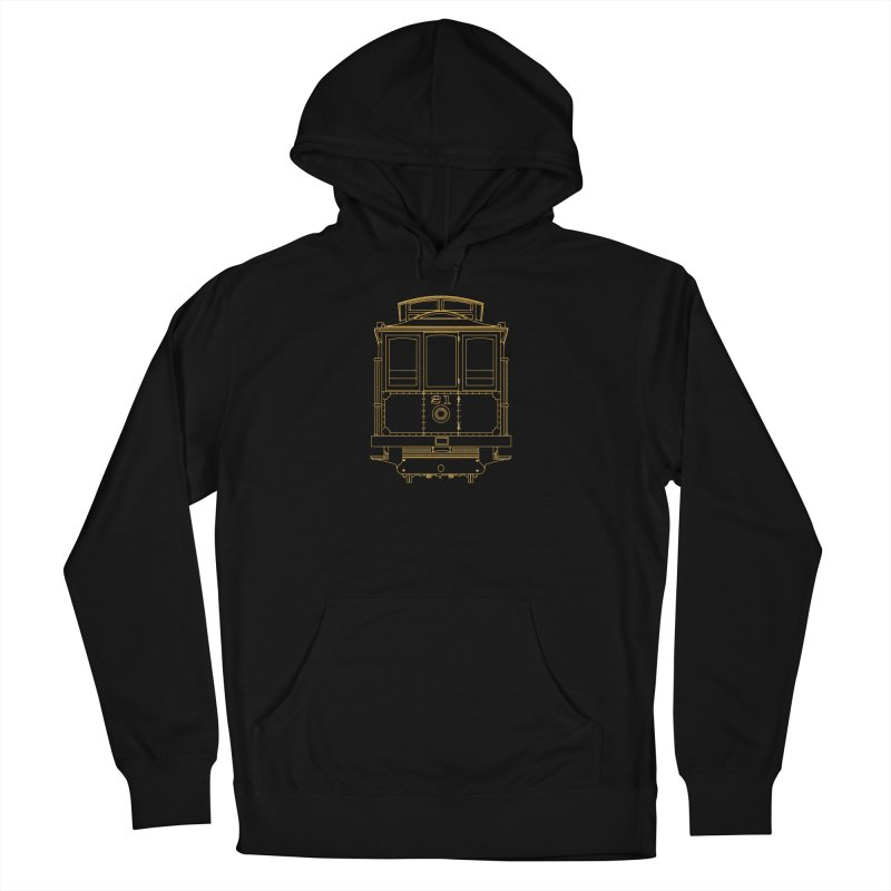 Cable Car #21 Men's French Terry Pullover Hoody by RE Casper Studio