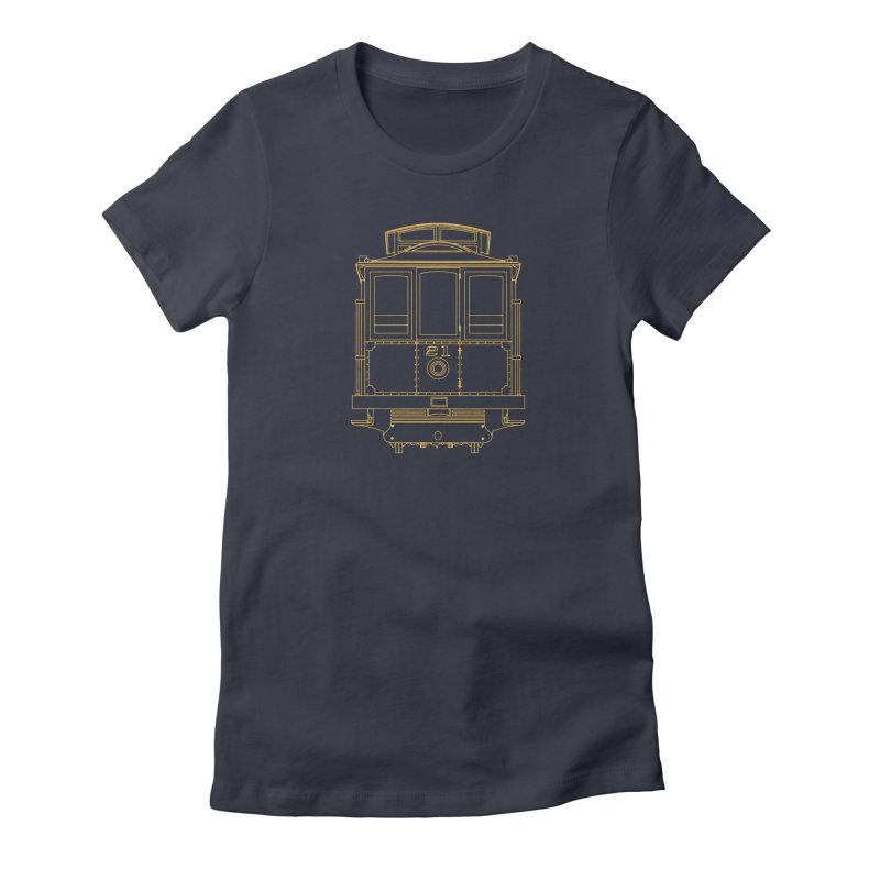 Cable Car #21 Women's Fitted T-Shirt by RE Casper Studio