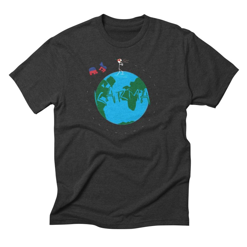 Karma Series - Politics Men's Triblend T-Shirt by RE Casper Studio