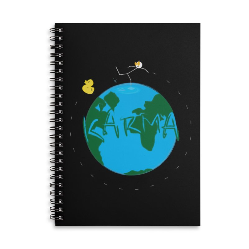 Karma Series - Rubber Duckie Accessories Lined Spiral Notebook by RE Casper Studio