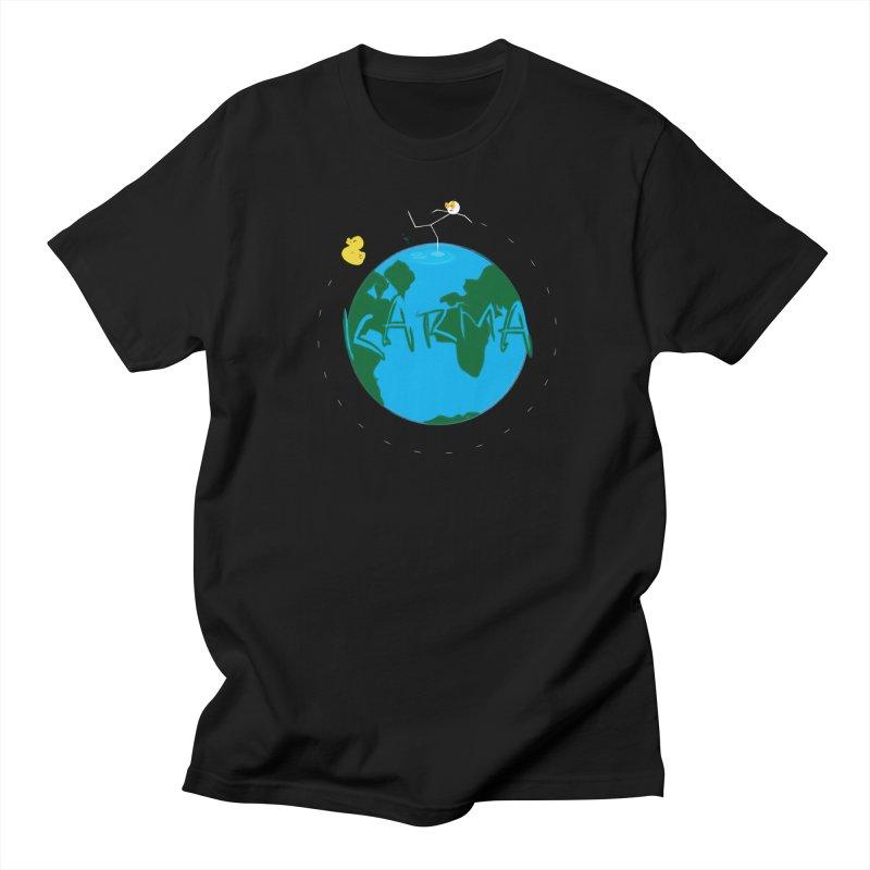 Karma Series - Rubber Duckie Men's Regular T-Shirt by RE Casper Studio