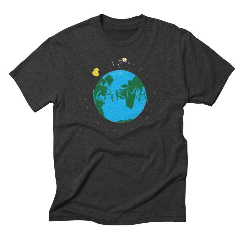 Karma Series - Rubber Duckie Men's Triblend T-Shirt by RE Casper Studio