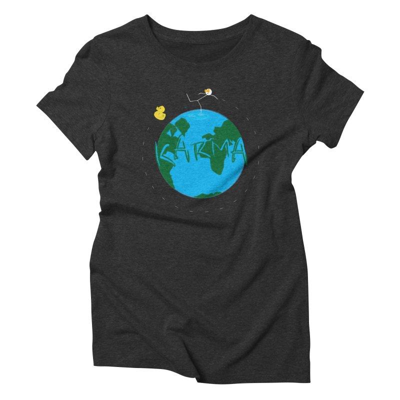 Karma Series - Rubber Duckie Women's Triblend T-Shirt by RE Casper Studio
