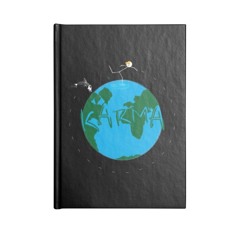 Karma Series - Dead Fish Accessories Lined Journal Notebook by RE Casper Studio