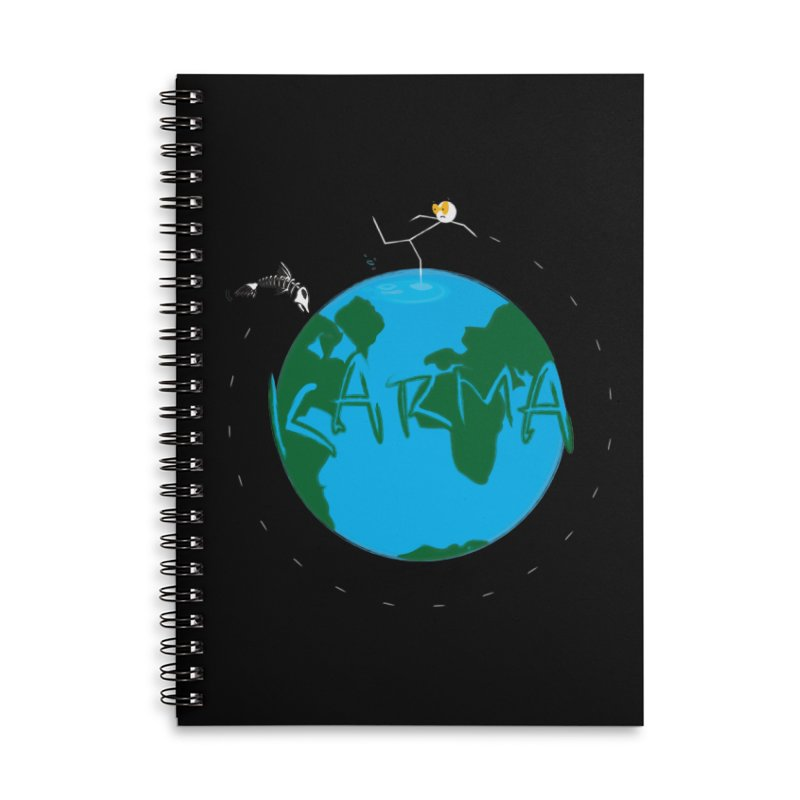 Karma Series - Dead Fish Accessories Lined Spiral Notebook by RE Casper Studio