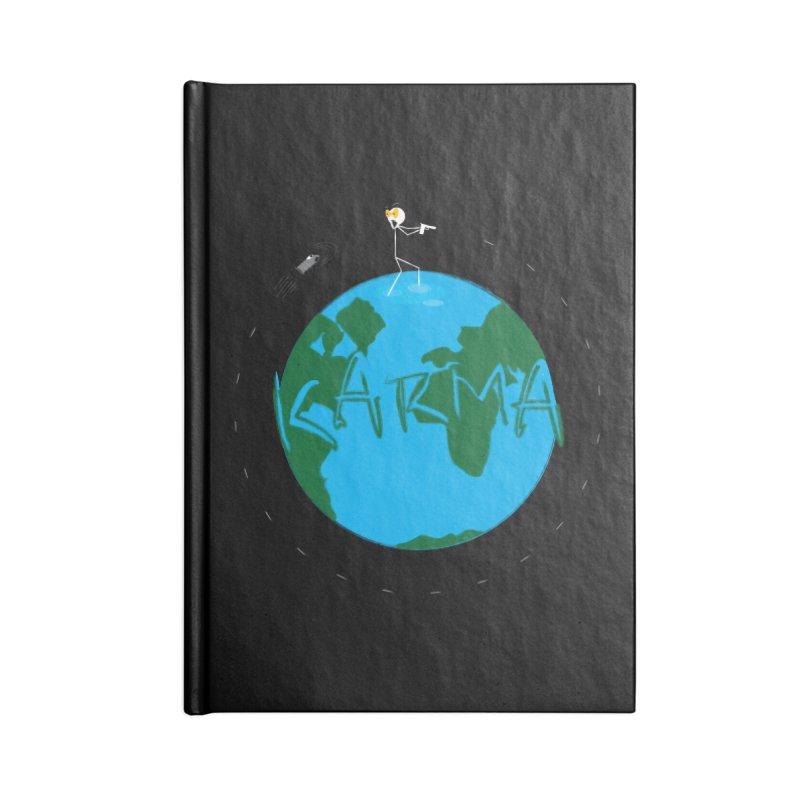 Karma Series - Cartoon Bullet Accessories Lined Journal Notebook by RE Casper Studio