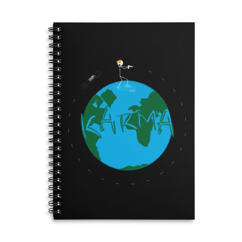 Karma Series - Cartoon Bullet Accessories Lined Spiral Notebook by RE Casper Studio