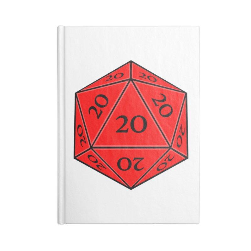 d20 Accessories Lined Journal Notebook by RE Casper Studio