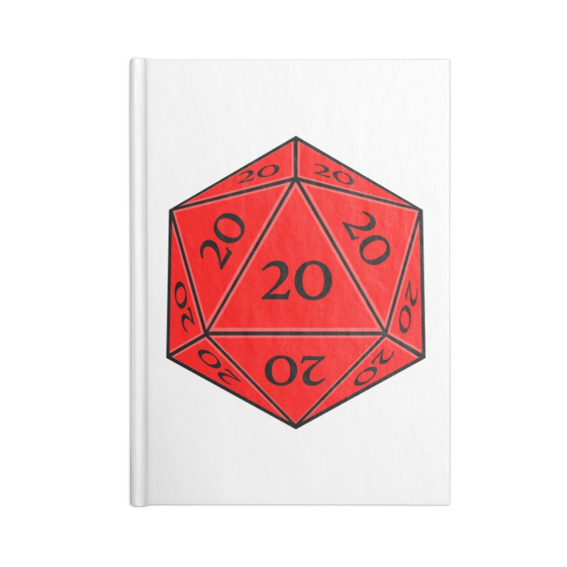 d20 Accessories Blank Journal Notebook by RE Casper Studio