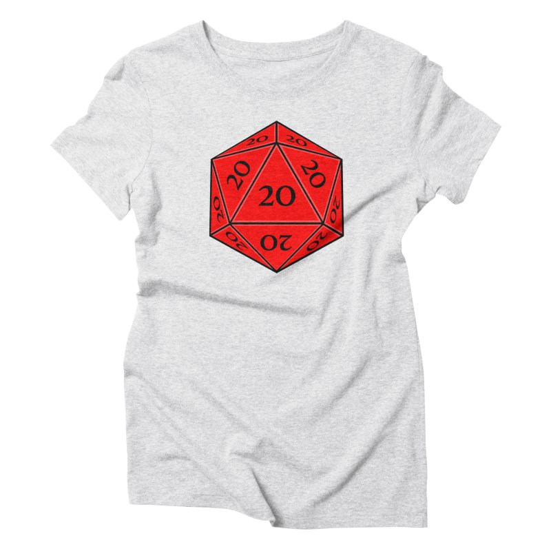 d20 Women's Triblend T-Shirt by RE Casper Studio