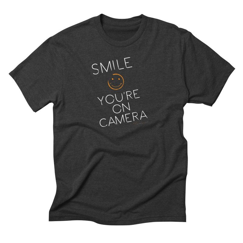 Smiley Cam Men's Triblend T-Shirt by RE Casper Studio