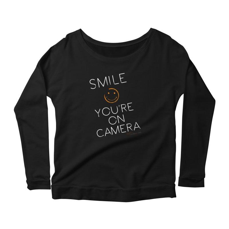 Smiley Cam Women's Scoop Neck Longsleeve T-Shirt by RE Casper Studio