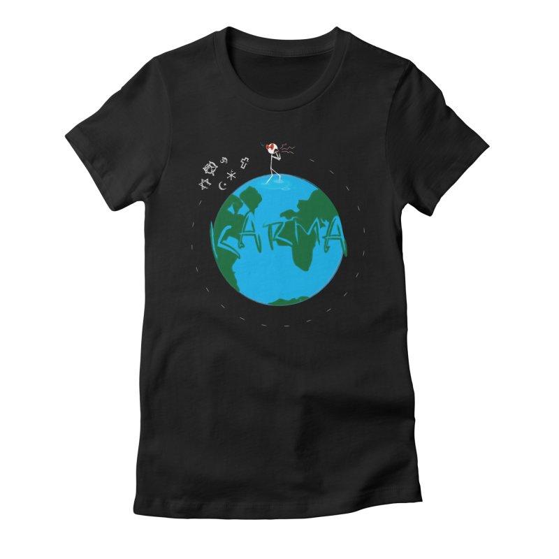 Karma Series - Religion Women's Fitted T-Shirt by RE Casper Studio
