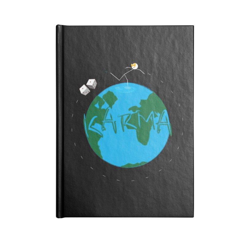 Karma Series - Dice Accessories Lined Journal Notebook by RE Casper Studio
