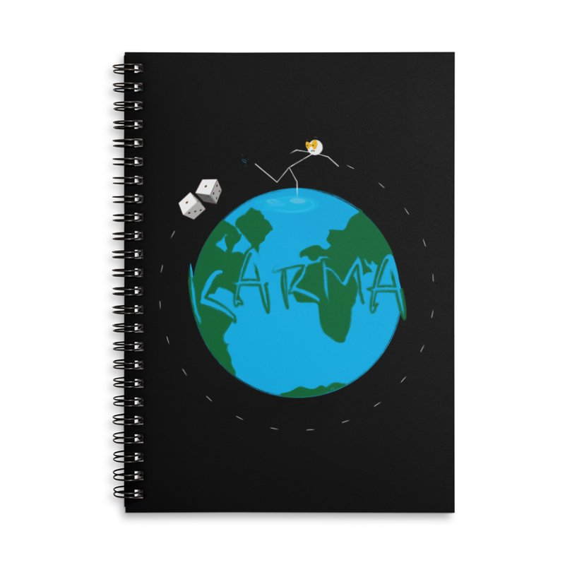Karma Series - Dice Accessories Lined Spiral Notebook by RE Casper Studio