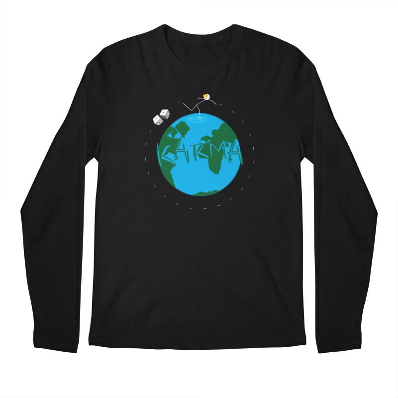 Karma Series - Dice Men's Regular Longsleeve T-Shirt by RE Casper Studio