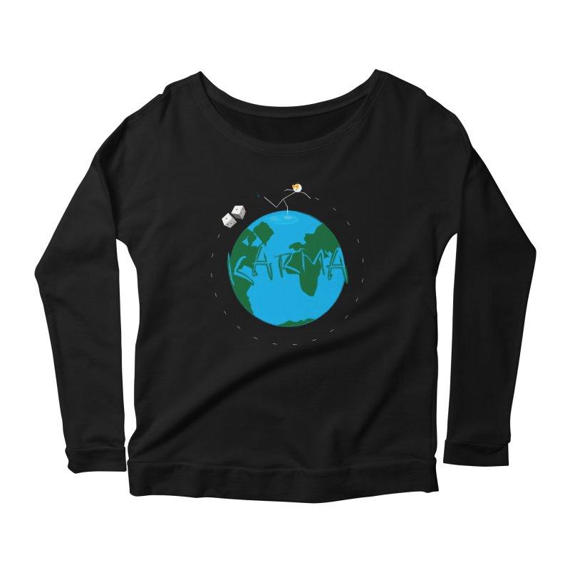 Karma Series - Dice Women's Scoop Neck Longsleeve T-Shirt by RE Casper Studio