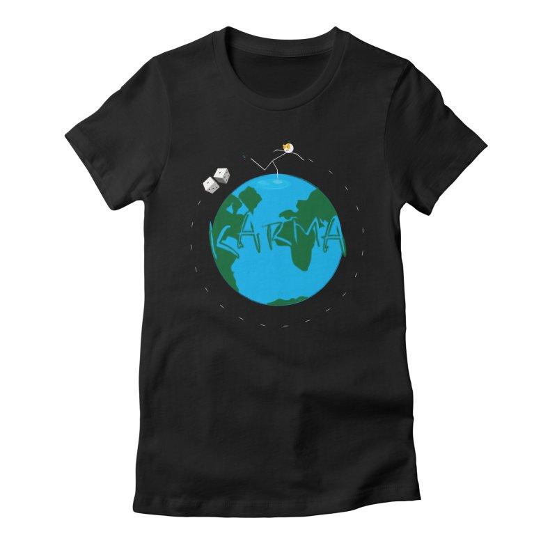 Karma Series - Dice Women's Fitted T-Shirt by RE Casper Studio
