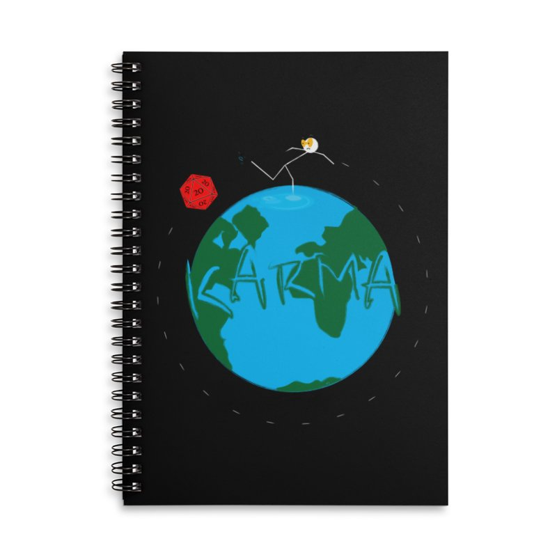 Karma Series - d2020 Accessories Lined Spiral Notebook by RE Casper Studio