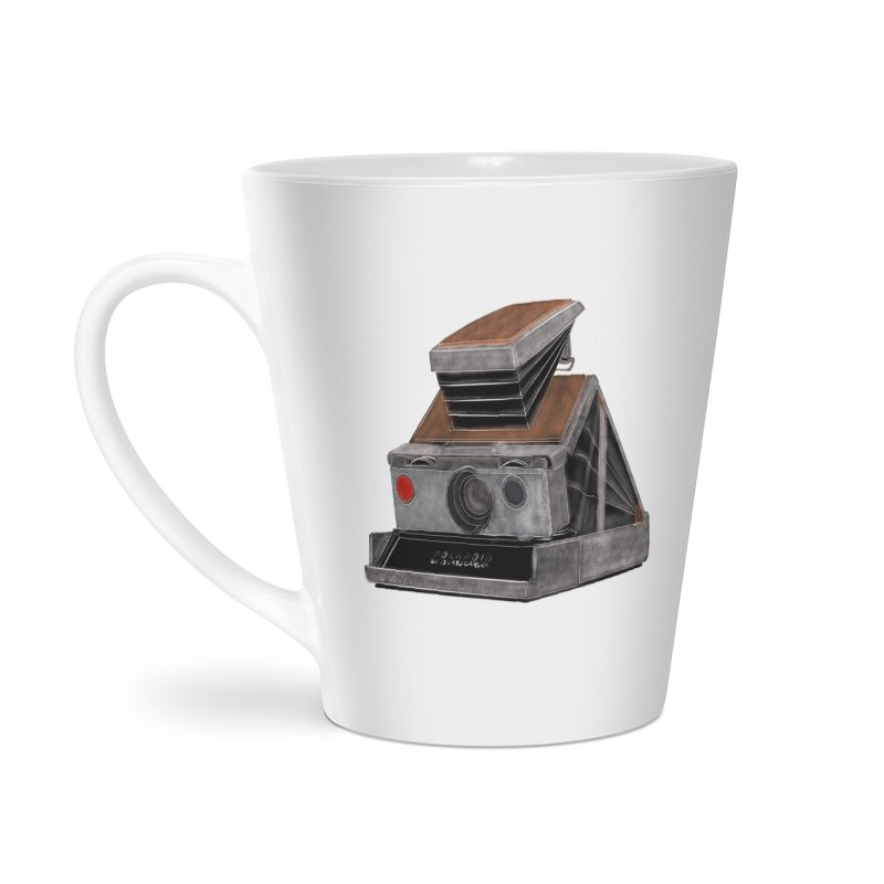 Polaroid SX10 Land Camera Accessories Latte Mug by RE Casper Studio