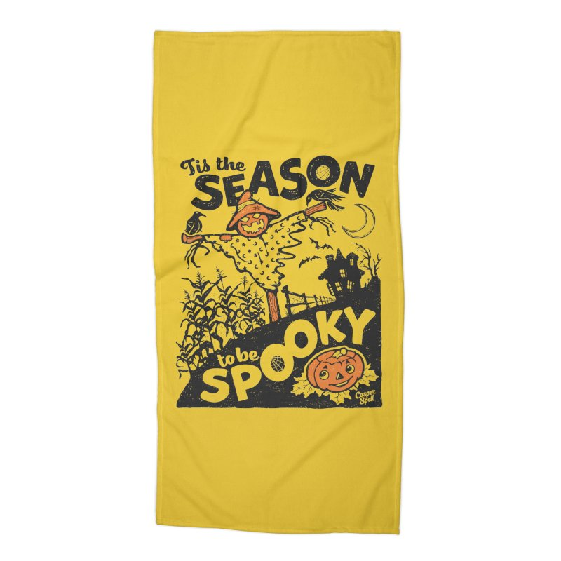 Tis the Season to be Spooky by Casper Spell Accessories Beach Towel by Casper Spell's Shop