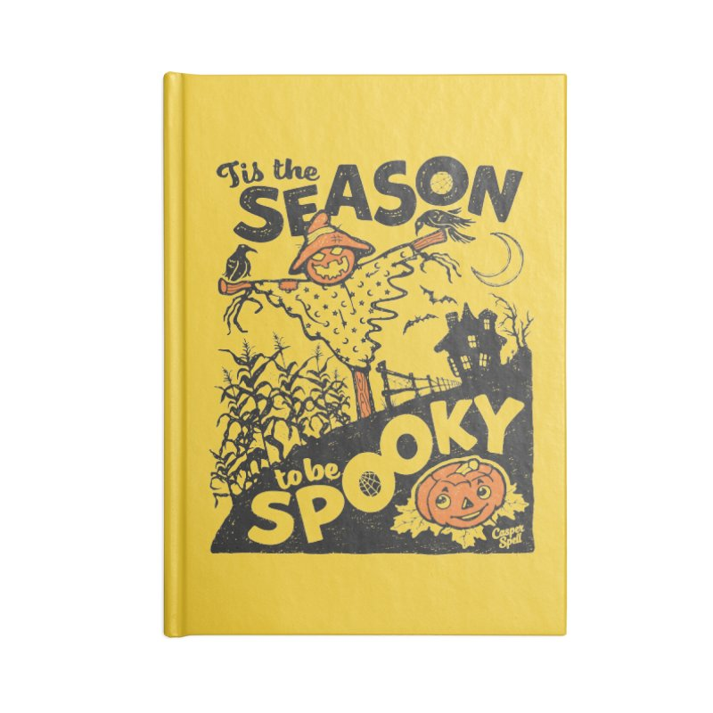 Tis the Season to be Spooky by Casper Spell Accessories Lined Journal Notebook by Casper Spell's Shop
