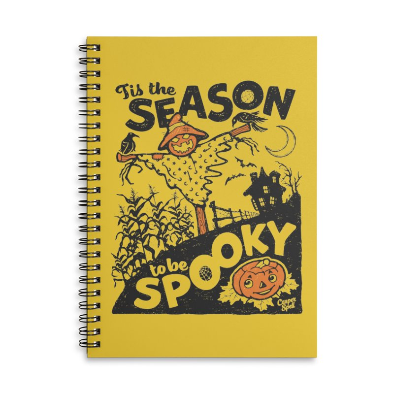 Tis the Season to be Spooky by Casper Spell Accessories Lined Spiral Notebook by Casper Spell's Shop