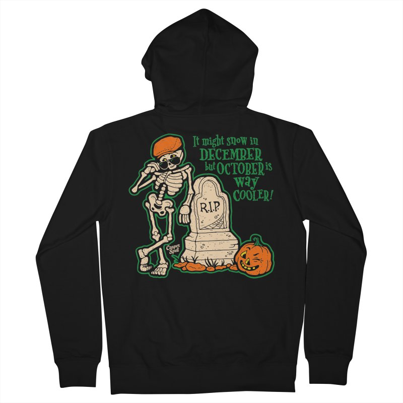 October is Way Cooler Men's Zip-Up Hoody by Casper Spell's Shop