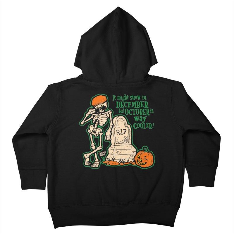 October is Way Cooler Kids Toddler Zip-Up Hoody by Casper Spell's Shop
