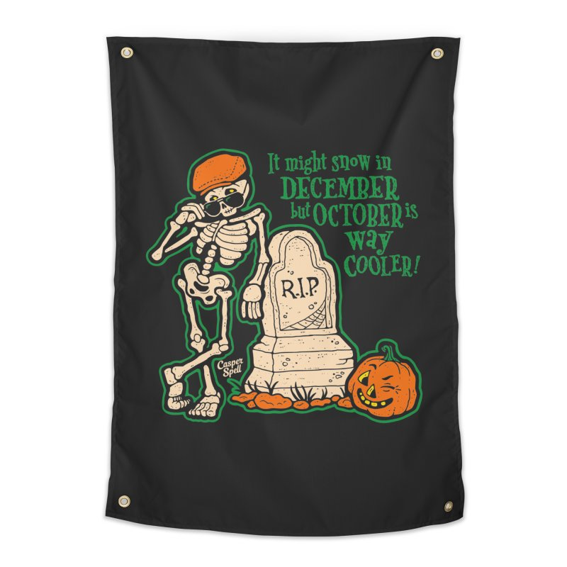October is Way Cooler Home Tapestry by Casper Spell's Shop