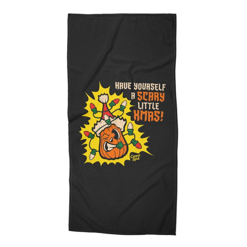 Have Yourself A Scary Little Christmas Accessories Beach Towel by Casper Spell's Shop