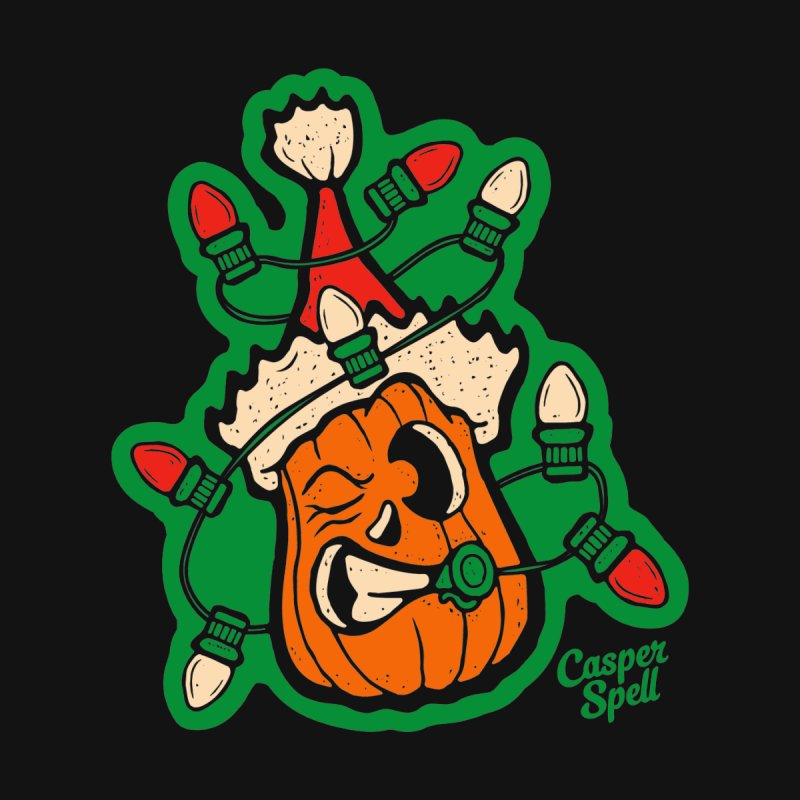 Halloween Gettin' Lit for Xmas Kids T-Shirt by Casper Spell's Shop