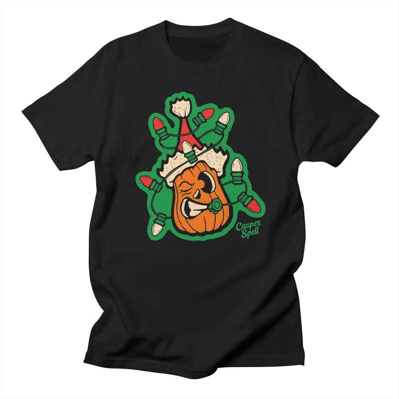 Halloween Gettin' Lit for Xmas Men's T-Shirt by Casper Spell's Shop
