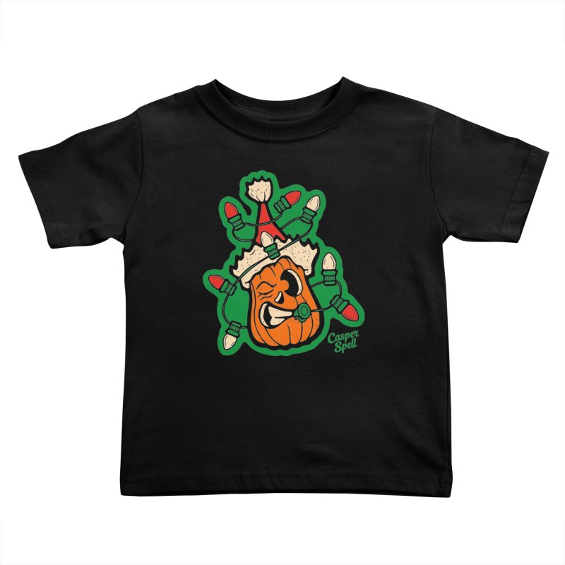 Halloween Gettin' Lit for Xmas Kids Toddler T-Shirt by Casper Spell's Shop