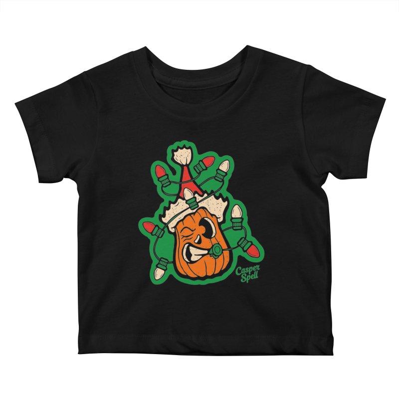 Halloween Gettin' Lit for Xmas Kids Baby T-Shirt by Casper Spell's Shop