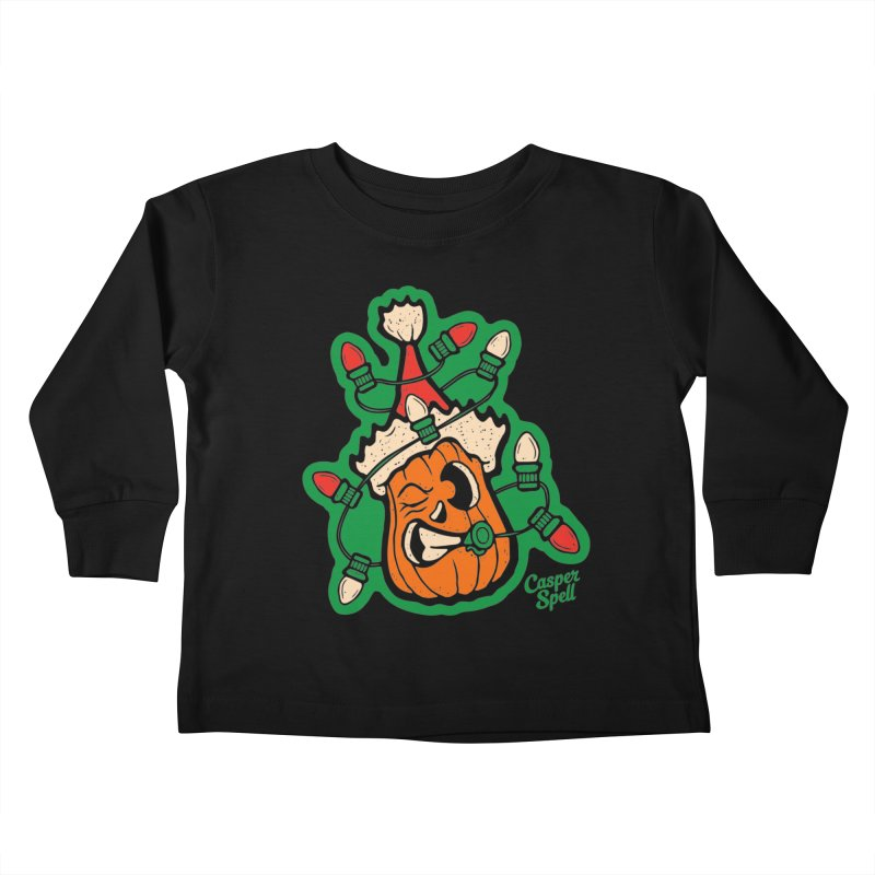 Halloween Gettin' Lit for Xmas Kids Toddler Longsleeve T-Shirt by Casper Spell's Shop